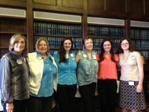 Beth, Judy, Melissa, Paula, Gillian, Marie in Committee Room
