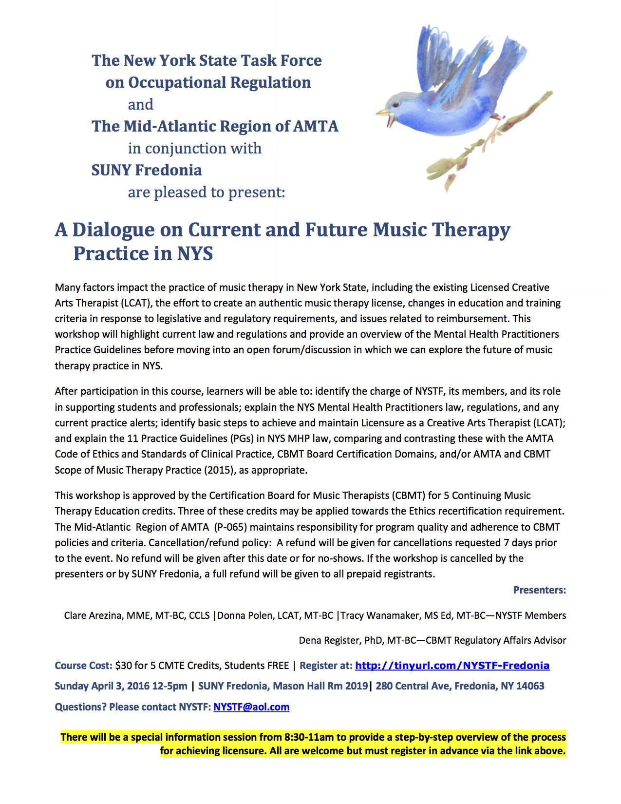 A Dialogue on Current and Future Music Therapy Practice in NYS