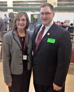 Beth Walls and Assemblyman Bob Andrzejczak