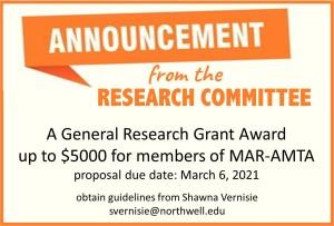 Grant Proposal Announcement