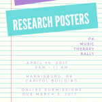 Call for Posters- PA Music Therapy Rally